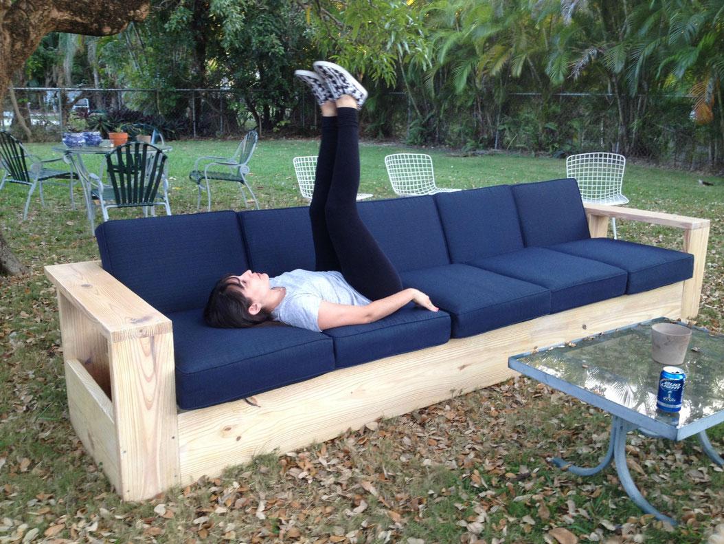 Мягкая садовая мебель своими руками 773