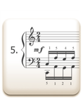 Piano Technique Exercise N°5 from C. L. Hanon's piano book : The Virtuoso Pianist in 60 Exercises