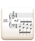 Piano Technique Exercise N°10 from C. L. Hanon's piano book : The Virtuoso Pianist in 60 Exercises