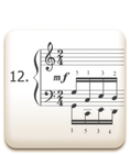 Piano Technique Exercise N°12 from C. L. Hanon's piano book : The Virtuoso Pianist in 60 Exercises