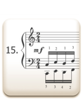 Piano Technique Exercise N°15 from C. L. Hanon's piano book : The Virtuoso Pianist in 60 Exercises