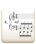 Piano Technique Exercise N°4 from C. L. Hanon's piano book : The Virtuoso Pianist in 60 Exercises