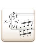 Piano Technique Exercise N°8 from C. L. Hanon's piano book : The Virtuoso Pianist in 60 Exercises