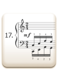 Piano Technique Exercise N°17 from C. L. Hanon's piano book : The Virtuoso Pianist in 60 Exercises