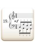 Piano Technique Exercise N°19 from C. L. Hanon's piano book : The Virtuoso Pianist in 60 Exercises
