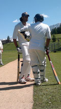 Tegernsee captain and opening batsman in the first game on pitch 4 against Idle (Lodi) CC