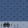 PaaPii - triangles, blue - bio-sweat (nicht gerauht)