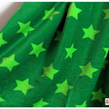 lillestoff - stars, grün - bio-nicki