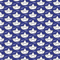 cherry picking - vintage loveboat, blau - baumwollstoff