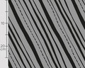 käpynen - slanted stripes, grey - bio-sommersweat