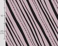 käpynen - slanted stripes, dusty pink - bio-sommersweat