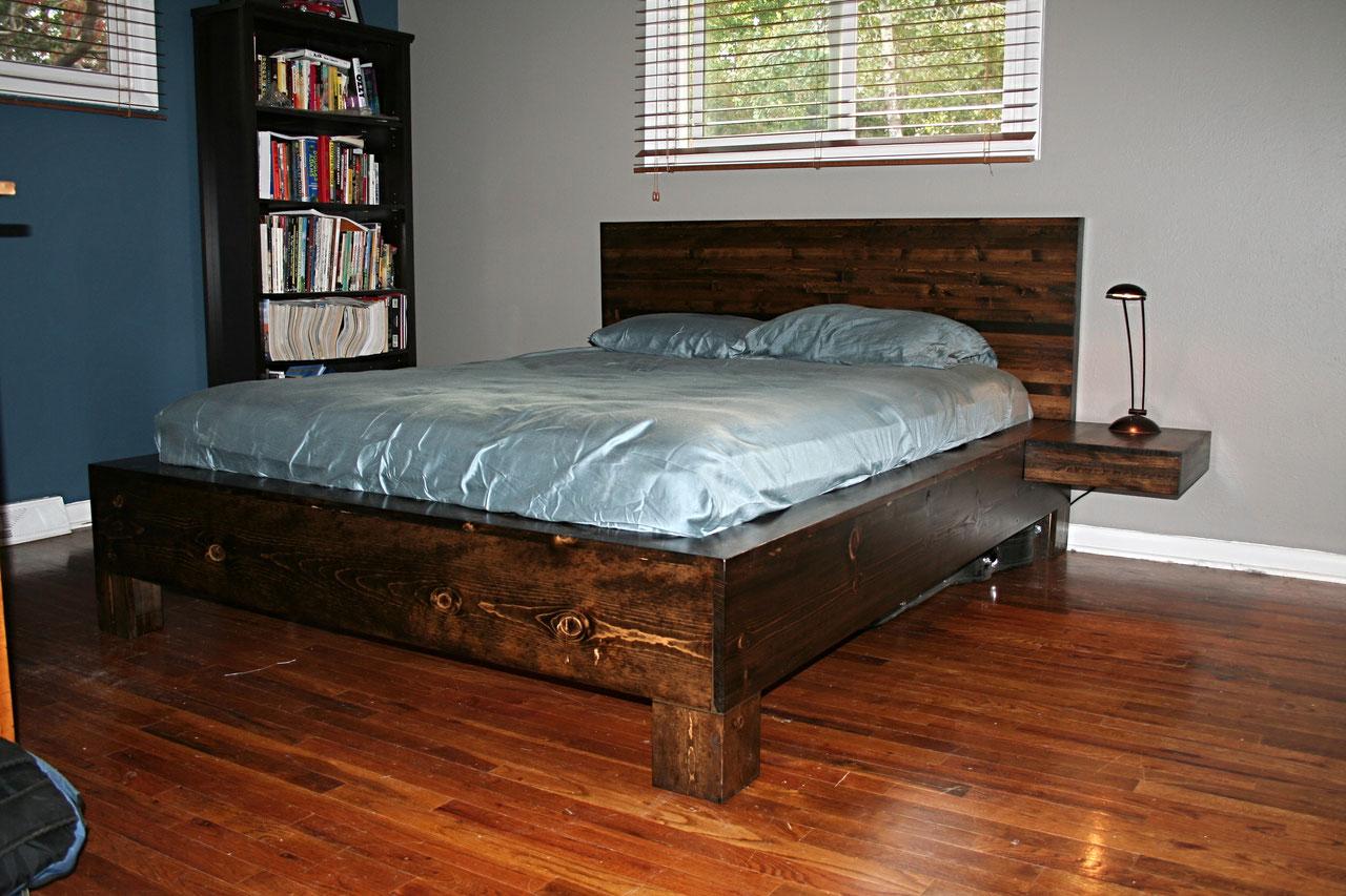 Как изготовить стильную кровать своими руками