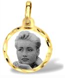 Medalla de oro con foto grabado