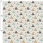 kimsa design - chevron triangles, mint - bio-jersey