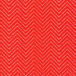 coud9 - zigzag, red - baumwolle