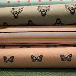 NOSH - Tiger, grau und Schmetterlinge, pink - bio-jersey