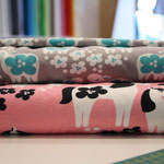 PaaPii - lambs türkis und horses in pink - bio-jersey