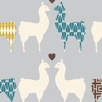 monaluna - llama love - bio-baumwolle
