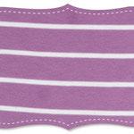 c.pauli - streifen dusty lavender/weiß - bio-interlock