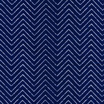 cloud9 - zigzag, blue - baumwolle