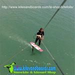 kitefoil strapless au lac de monteynard