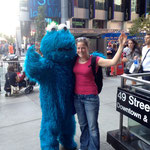 Hero of my childhood: the cookie monster from the TV-show sesame street