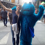 and Hanna with Cookie monster