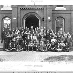 Lombard students 1893 in front of Old Main