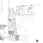 NADINE MARCHERAT croquée par Frédéric Dégranges