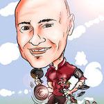 Caricaturas personalizadas online de fotografías: caricatura individual 20€ a todo color