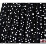 lillestoff - mini stars, schwarz/weiß - bio-jersey