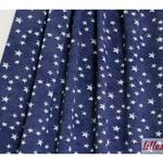 lillestoff - mini stars, blau/weiß - bio-jersey