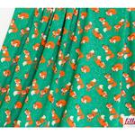 lillestoff - fox, green/orange - bio-jersey