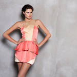 Increíble vestido de Alejandra de Coss  Maquillaje by Park Avenue