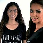 Antes y después del peinado y maquillaje