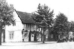 Kings Norton Green - Cottages demolished c1937, considered unsatisfactory by the Medical Officer for Health. Grateful thanks and acknowledgements for the use of this image to E W Green, Historic Buildings in Pen & Ink - The Work of William Albert Green.