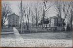 campus 1906 (Old Sandstone on left side, College Hall on right side)