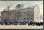 burning of men's dorm (Old Sandstone)