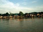 Die Bevölkerung am Mahakam lebt hauptsächlich vom Reisanbau und Fischfang.