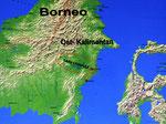 Das Mahakam-Gebiet erstreckt sich von der Ostküste Ostkalimantans bis in die Berge an der Grenze zu Malaysia.