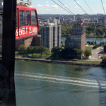 on the aerial tramway from Manhattan to Roosevelt Island
