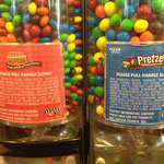 in the M&M-store: haven't tried them :D