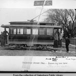 Lombard College Streetcar 1895 (Old Main to right)