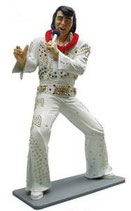 RÉPLICA DE ELVIS PRESLEY CANTANDO CON TRAJE DE BAILE | Figura de Elvis