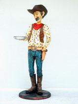 RÉPLICA DE COWBOY CON BANDEJA   Figuras de cowboys