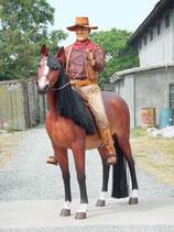 RÉPLICA DE COWBOY MONTADO EN CABALLO   Figuras de cowboys
