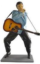 RÉPLICA DE ELVIS CON GUITARRA Y MICRÓFONO | Figuras de Elvis