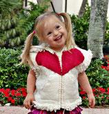 Valentina Wool Zip-Up Vest