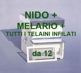 Arnia da nomadismo 12 telaini NIDO + MELARIO CON TUTTI I TELAINI INFILATI