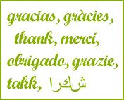 gracias, gràcies, thank, merci, obrigado, grazie, takk, شكرا